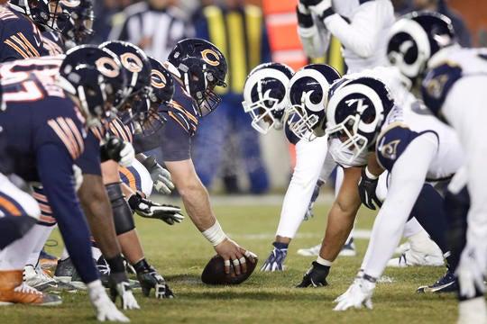 7eb640fa NFL: Chicago Bears: Matt Nagy breaks down the Bears offensive line ...