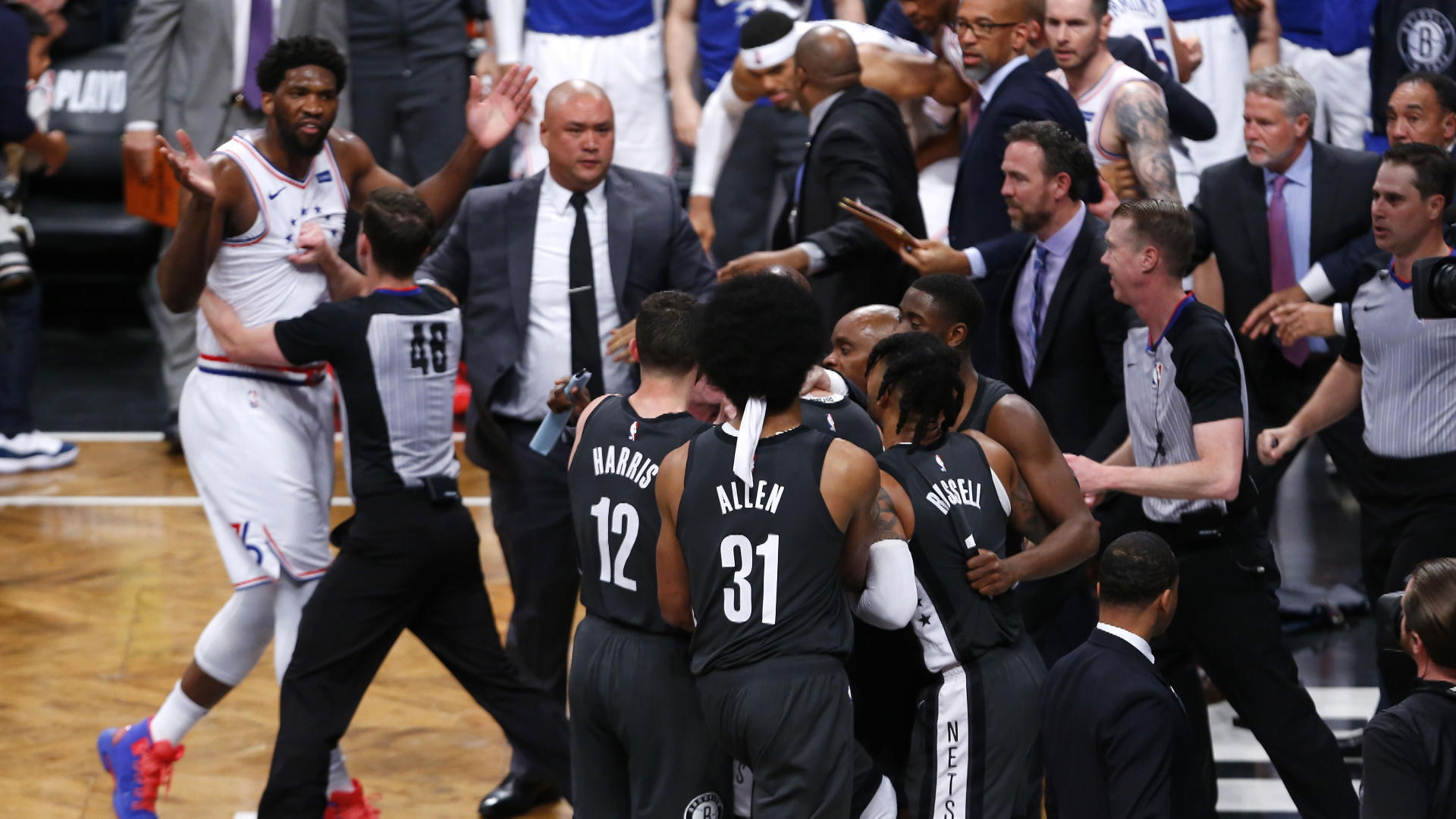 NBA fines Nets GM Sean Marks and owner Joe Tsai for actions following Game 4 loss to 76ers