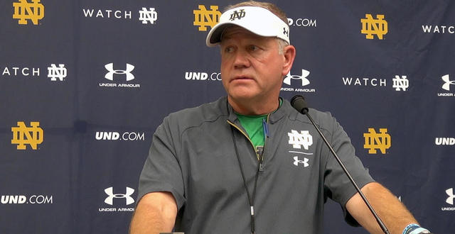Post practice interview: Brian Kelly on Asmar BIlal and Kyle Hamilton