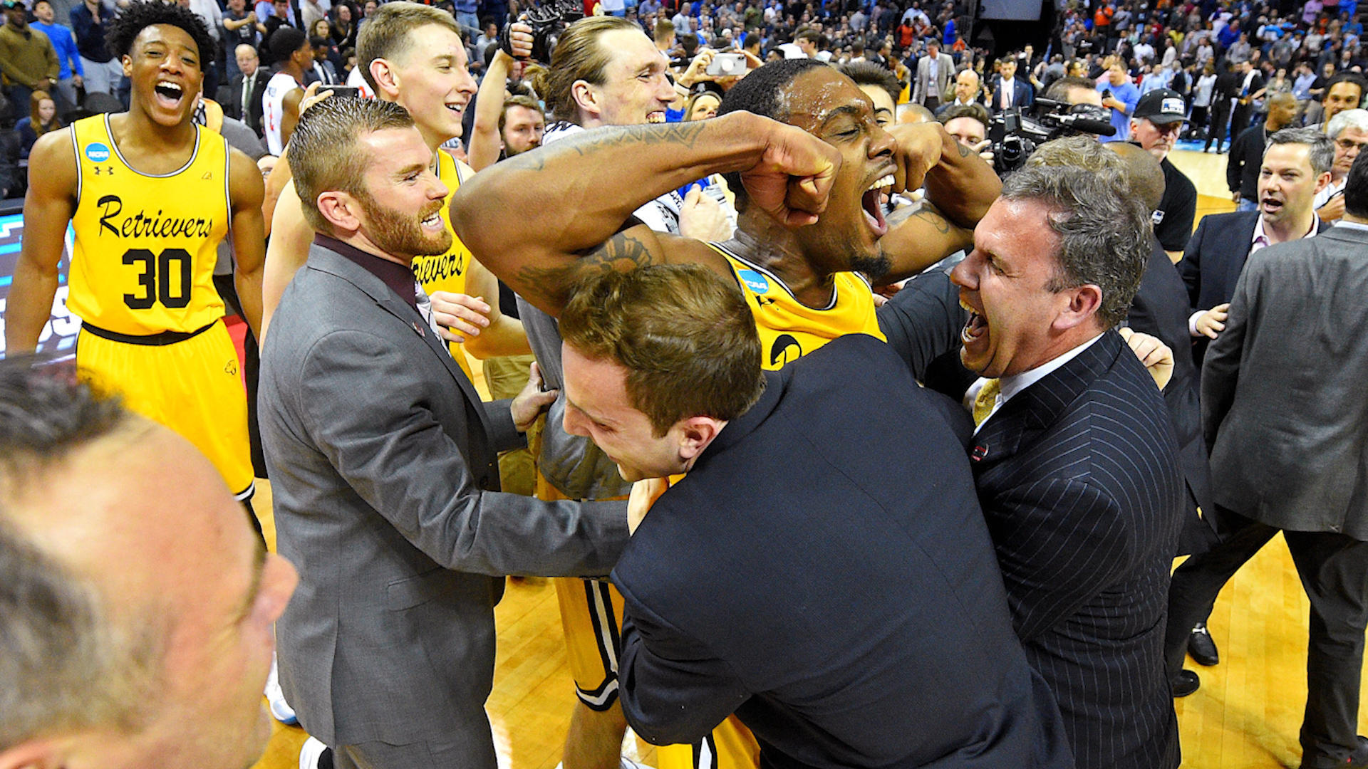 No. 16 seed UMBC beats No. 1 Virginia in biggest NCAA Tournament upset of all time