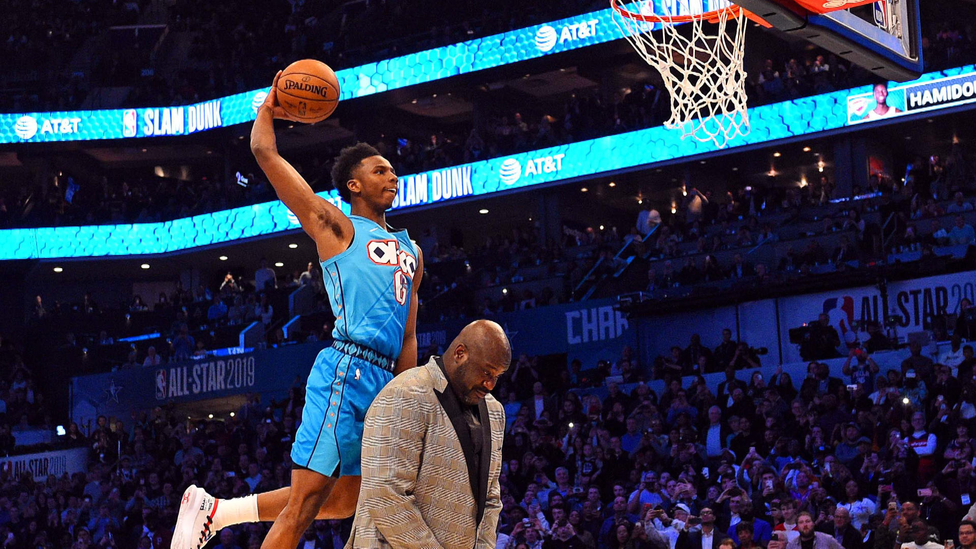 NBA Slam Dunk Contest 2019: Hamidou Diallo's soaring dunk over Shaquille O'Neal steals the show