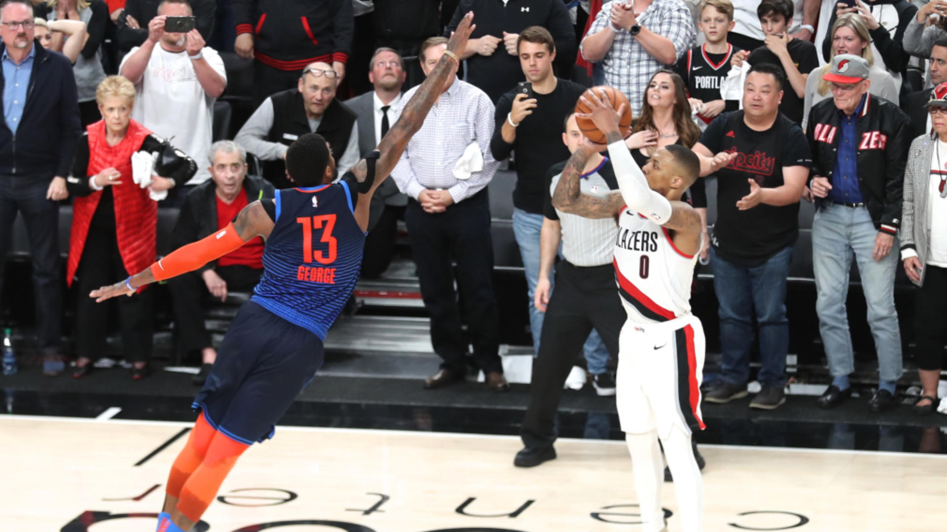 NBA playoffs scores, highlights, results: Damian Lillard sends Thunder home; Raptors, 76ers advance; Nuggets go up 3-2 on Spurs