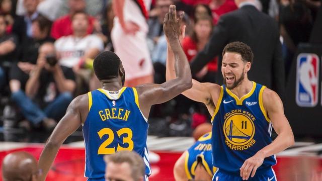 6879027b7be9 NBA  Game 4 Highlight  Warriors at Trail Blazers - Video - CBSSports ...