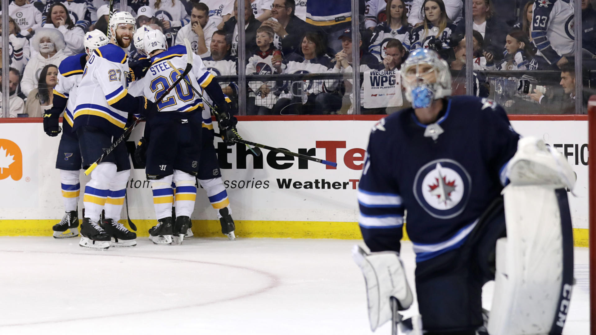 Stanley Cup Playoffs results: Hurricanes pull even with Capitals; Blues stun Jets with comeback; Sharks stay alive
