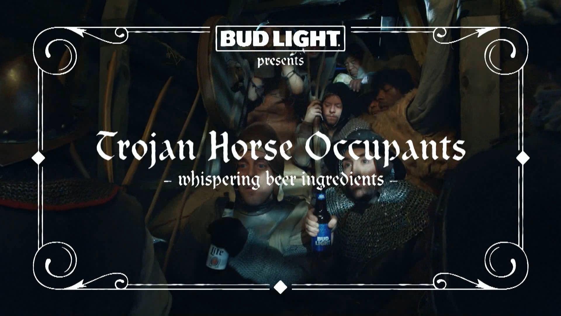 "2019 Super Bowl Commercials: Bud Light ""Two Trojan Horse Occupants"" - CBSSports.com"