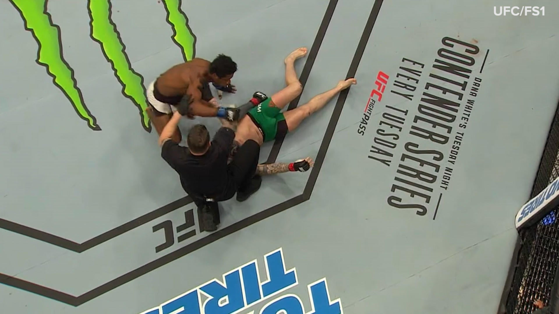 watch former alabama lb delivers vicious knockout in ufc debut