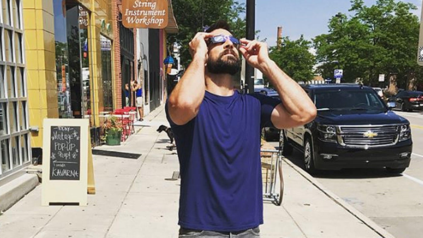 LOOK: NFL players and coaches geek out watching the solar eclipse