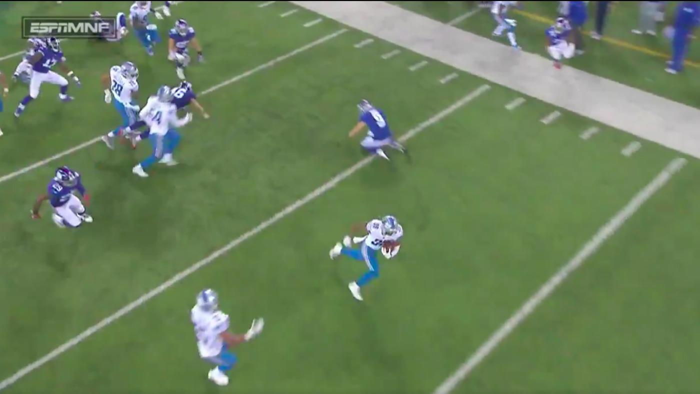 WATCH: Lions separate from Giants with fourth quarter 88-yard punt return TD