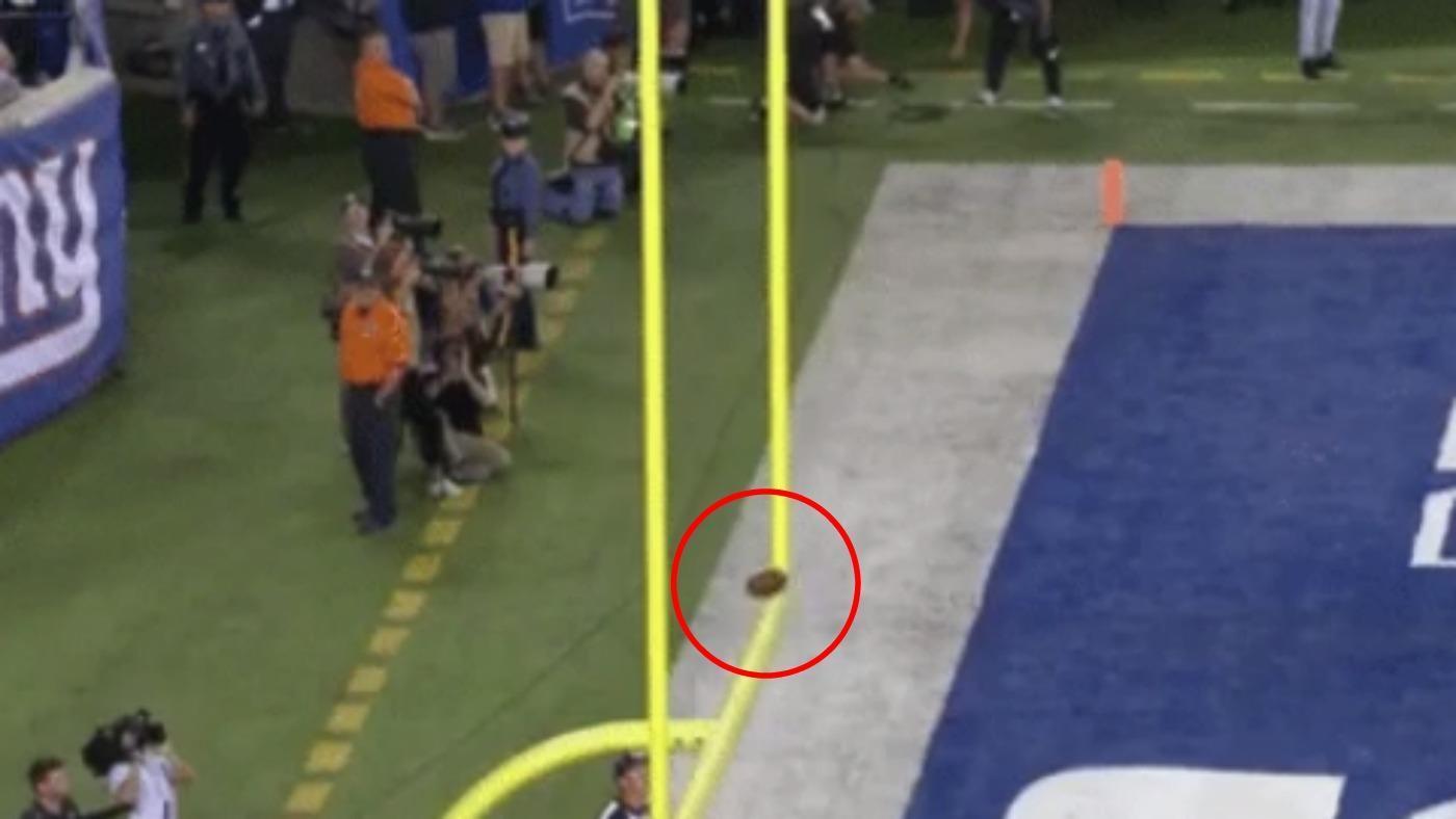 WATCH: Lions kicker Matt Prater bounces 56-yard field goal off the crossbar and in