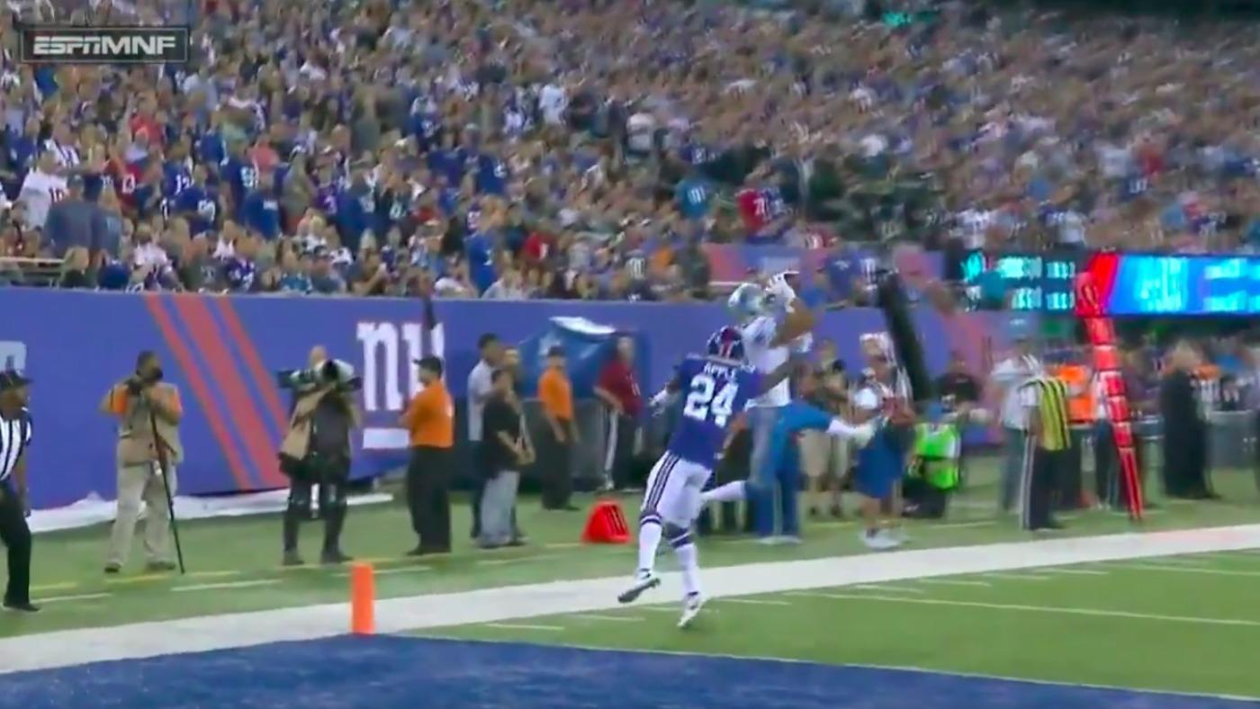 WATCH: Lions' Stafford, Jones combine for TD against completely lost Eli Apple