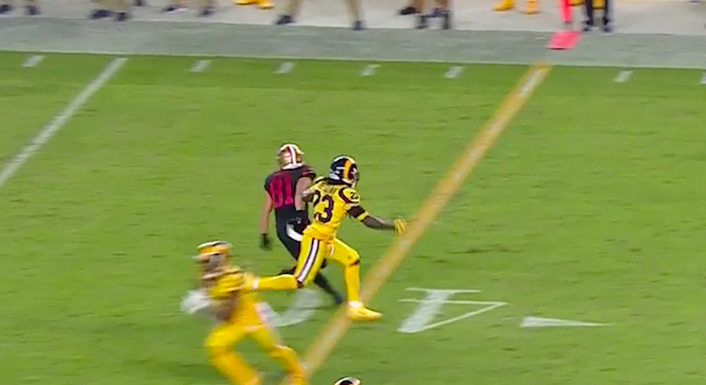 49ers not happy about controversial pass interference call that helped Rams win