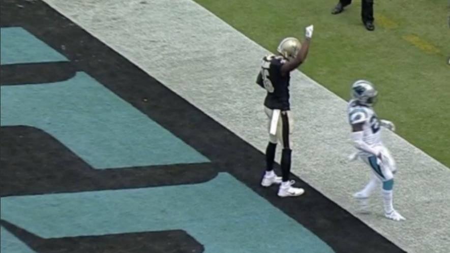 LOOK: Saints' Brandon Coleman celebrates touchdown by raising his fist