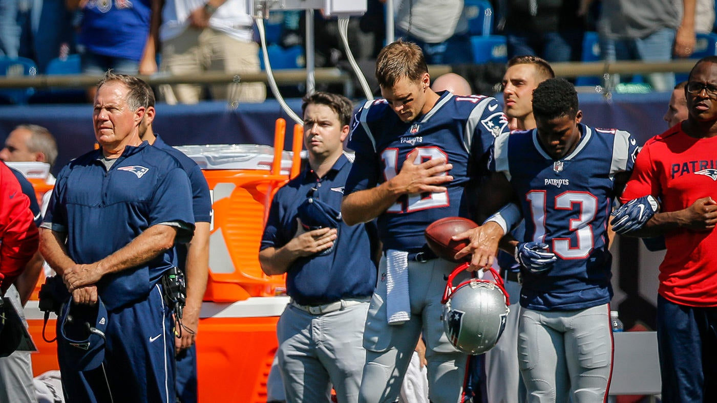 Tom Brady on why he locked arms with teammates: Trump's words were 'divisive'