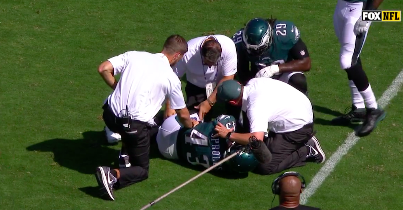 Darren Sproles out for season after suffering two devastating injuries on one play
