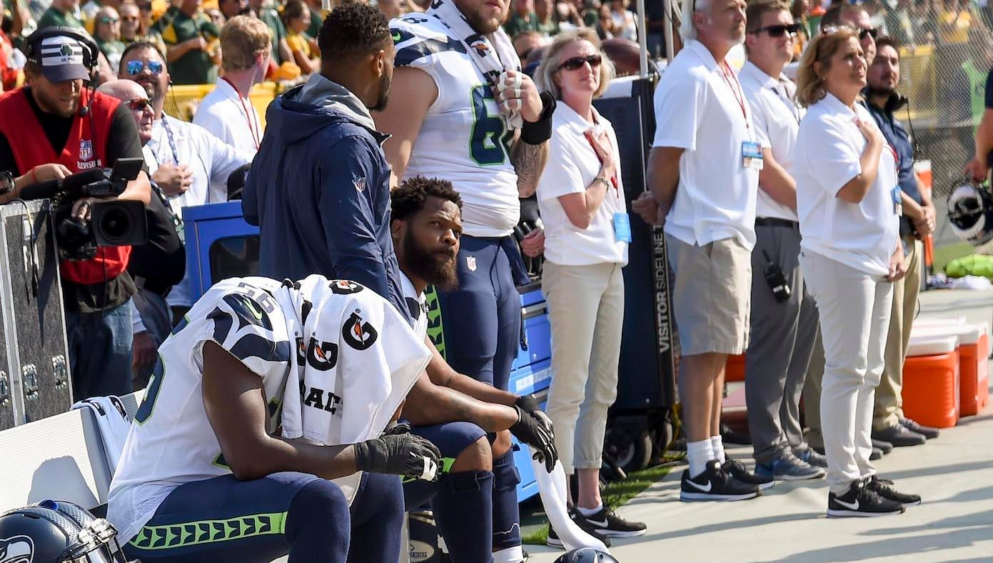 Michael Bennett will continue to sit during anthem, even if NFL mandates standing