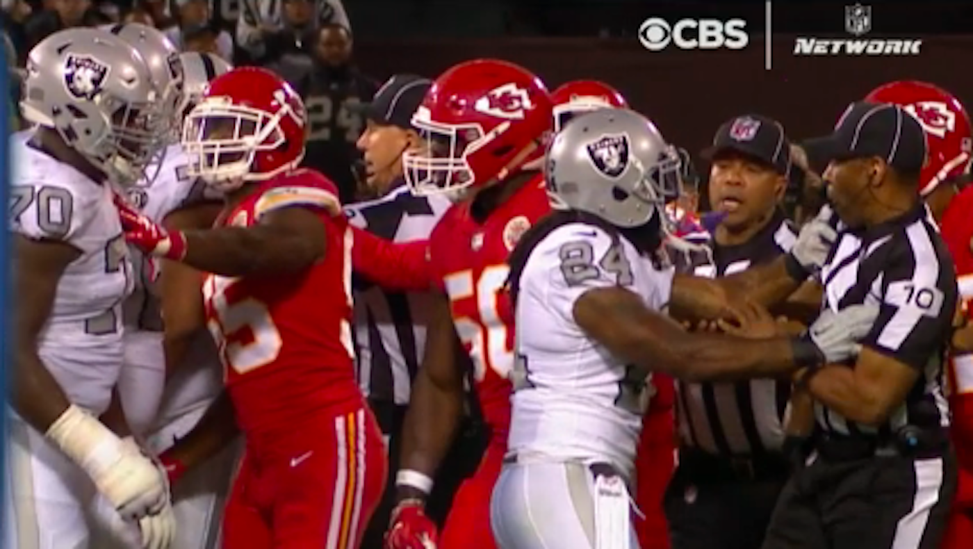 Raiders' Marshawn Lynch suspended one game after ejection for pushing official