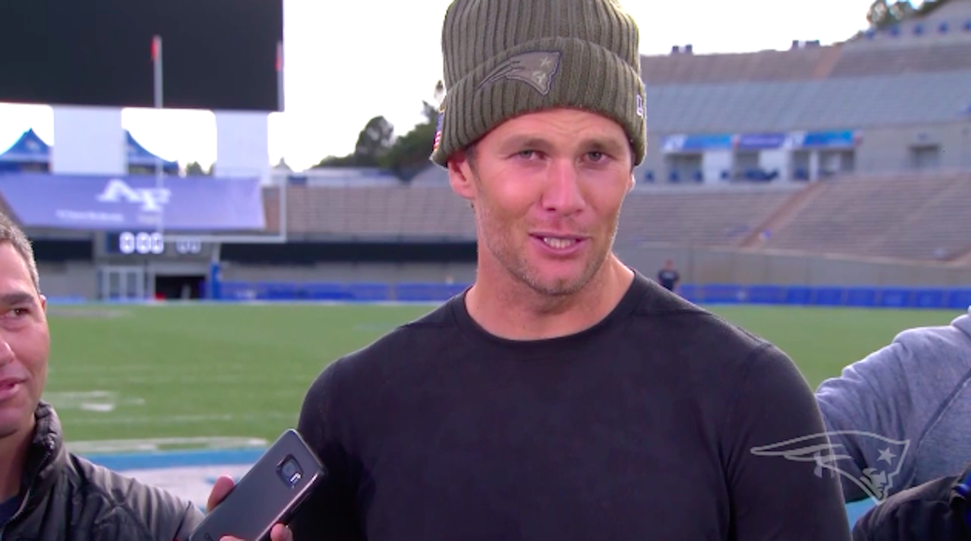 LOOK: Tom Brady Apologizes To Gisele After Hilarious Slip Up At Press Conference
