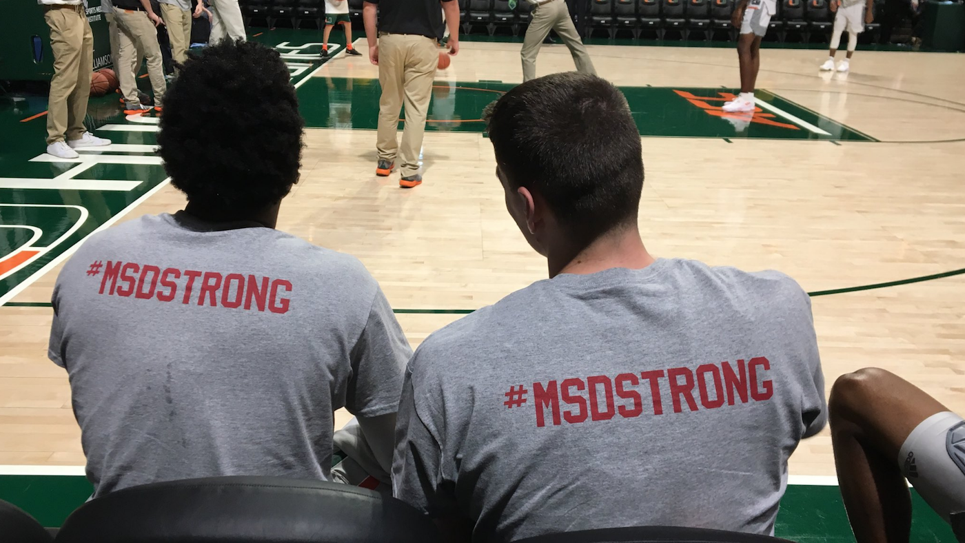 LOOK: Miami And Syracuse Pay Tribute To Florida Shooting Victims With T Shirts
