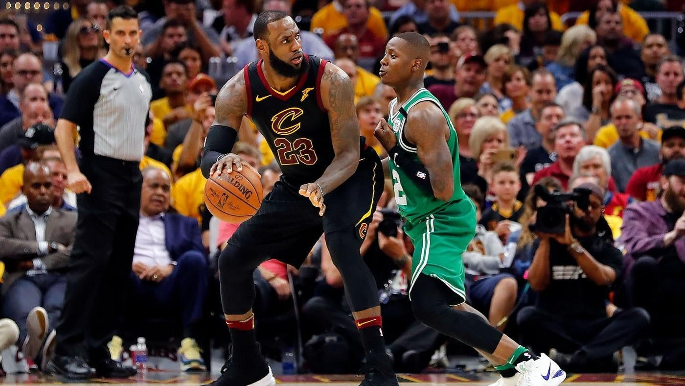 size 40 229cf 0616d NBA Playoffs 2018  LeBron James goes for 44 as Cavaliers hold off Celtics  to even series at 2-2 - CBSSports.com