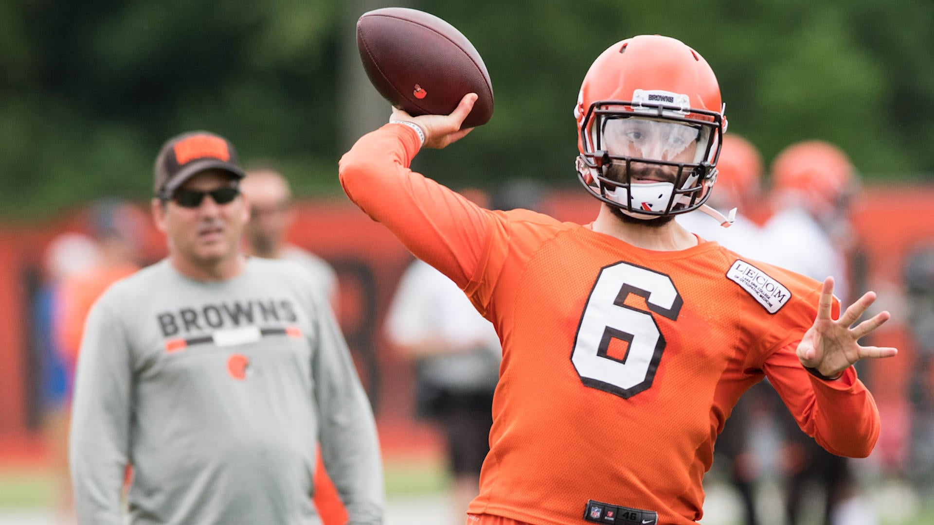 daea4b50b 2018 NFL Training Camps  Rookie Baker Mayfield brings excitement ...