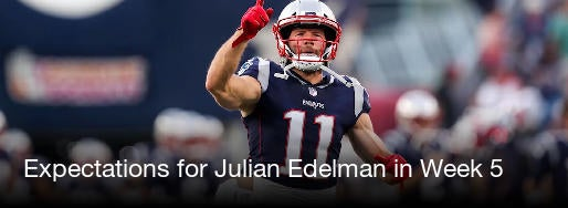 Julian Edelman Source Expectations For In Week 5 CBSSports Com