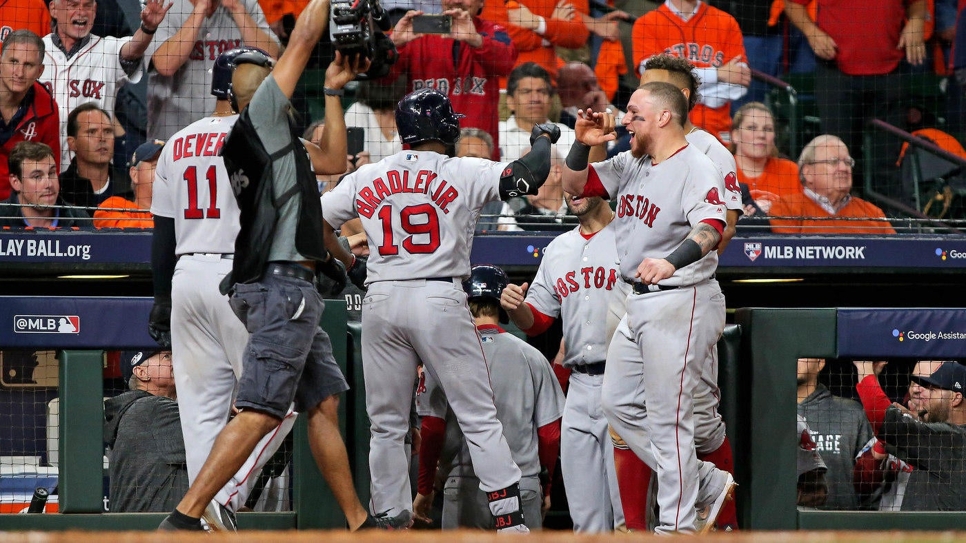 d29e669b1905f8 Astros score: Bradley, Benintendi put Boston one win away from World Series  - CBSSports.com
