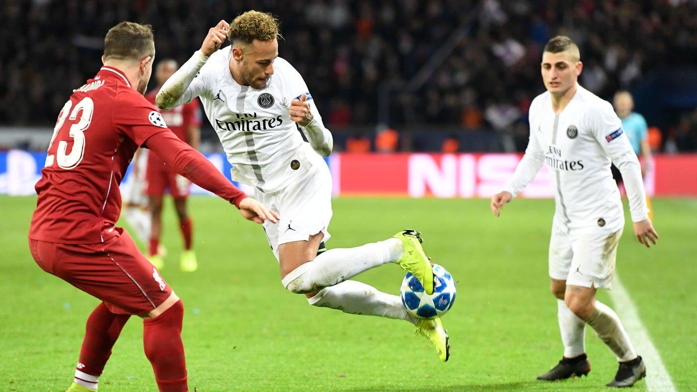Champions League Scores Neymar Psg Dazzles Vs Liverpool Spurs Get Late Winner Barcelona Atletico Madrid Advance Cbssports Com