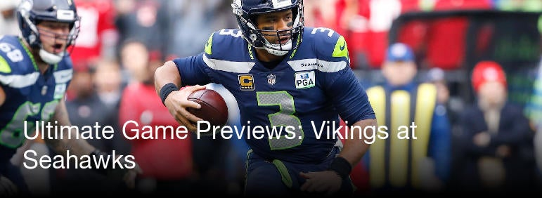 ultimate game previews vikings at seahawks cbssports com
