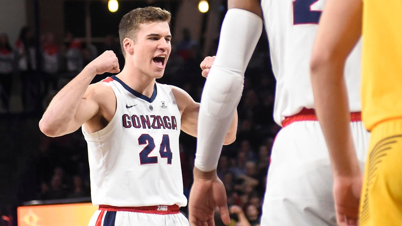 College Basketball Rankings Gonzaga Takes Over No 1 Spot