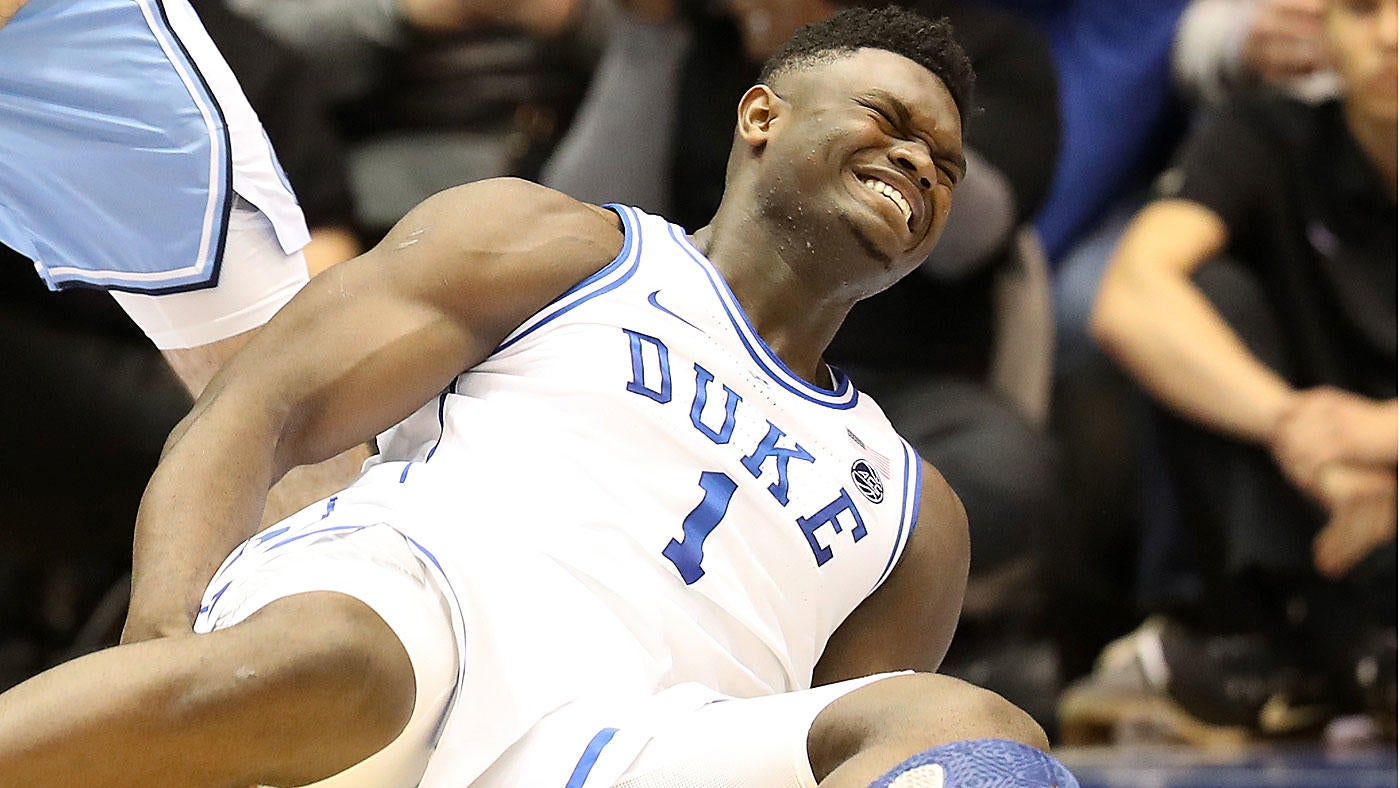 103d66603de Zion Williamson injury  Nike stock down after Duke star blows out shoe