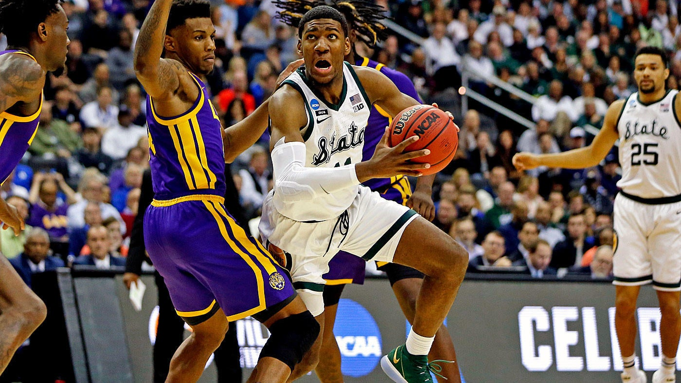 d3e4b6bc6f9113 Michigan State vs. LSU score  Spartans start fast and streak into Elite  Eight with balanced effort vs. the Tigers