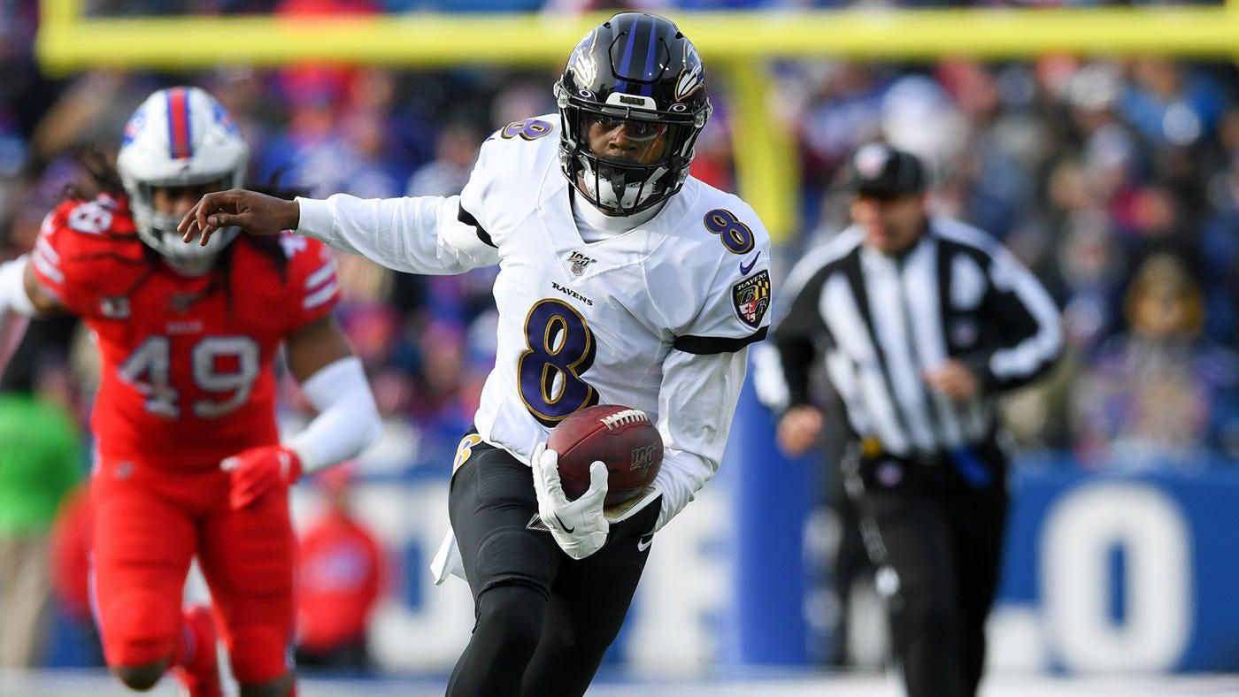 Ravens At Bills Score Lamar Jackson Throws Three Tds Baltimore Defense Helps Lead Team To Win Cbssports Com
