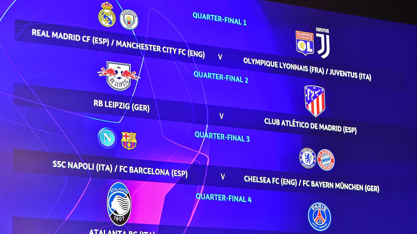 Champions League Draw Europa League Draw Results Bracket Schedule Real Madrid Man City Face Tough Road Cbssports Com