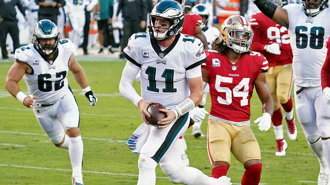 Eagles Vs 49ers Score Carson Wentz Philly Defense Step Up To Upset San Francisco And Take Nfc East Lead Cbssports Com