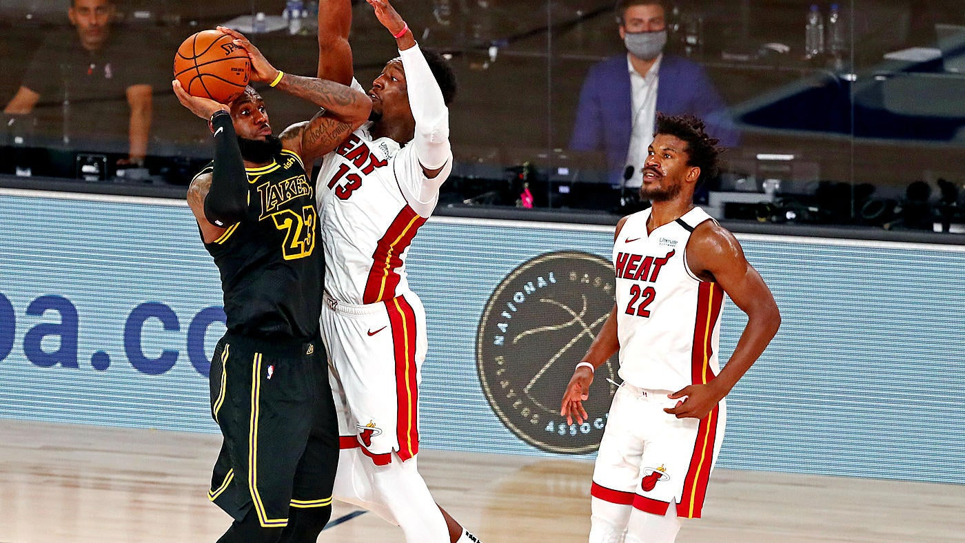 Lakers vs. Heat score, takeaways: Jimmy Butler, LeBron James have epic  duel, Miami wins Game 5, extends Finals - CBSSports.com