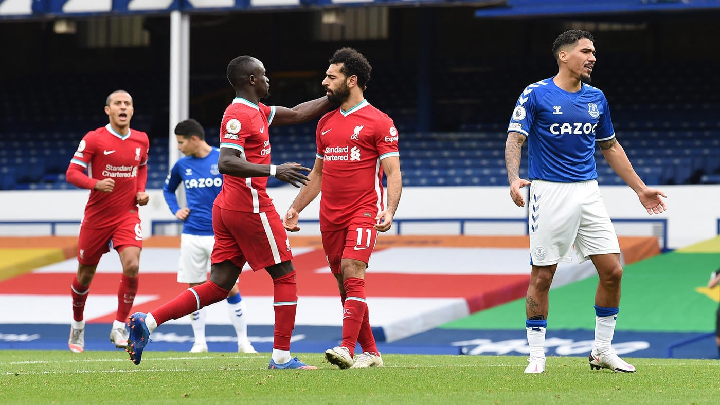 Everton Liverpool Score Klopp Wants Var Review After Controversial Offside Injury Fear For Van Dijk Thiago Cbssports Com