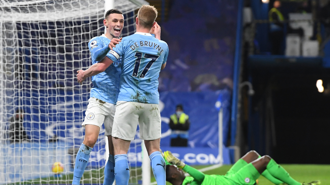 Chelsea Vs Manchester City Score Kevin De Bruyne Inspires First Half Romp As Pressure Grows On Frank Lampard Cbssports Com