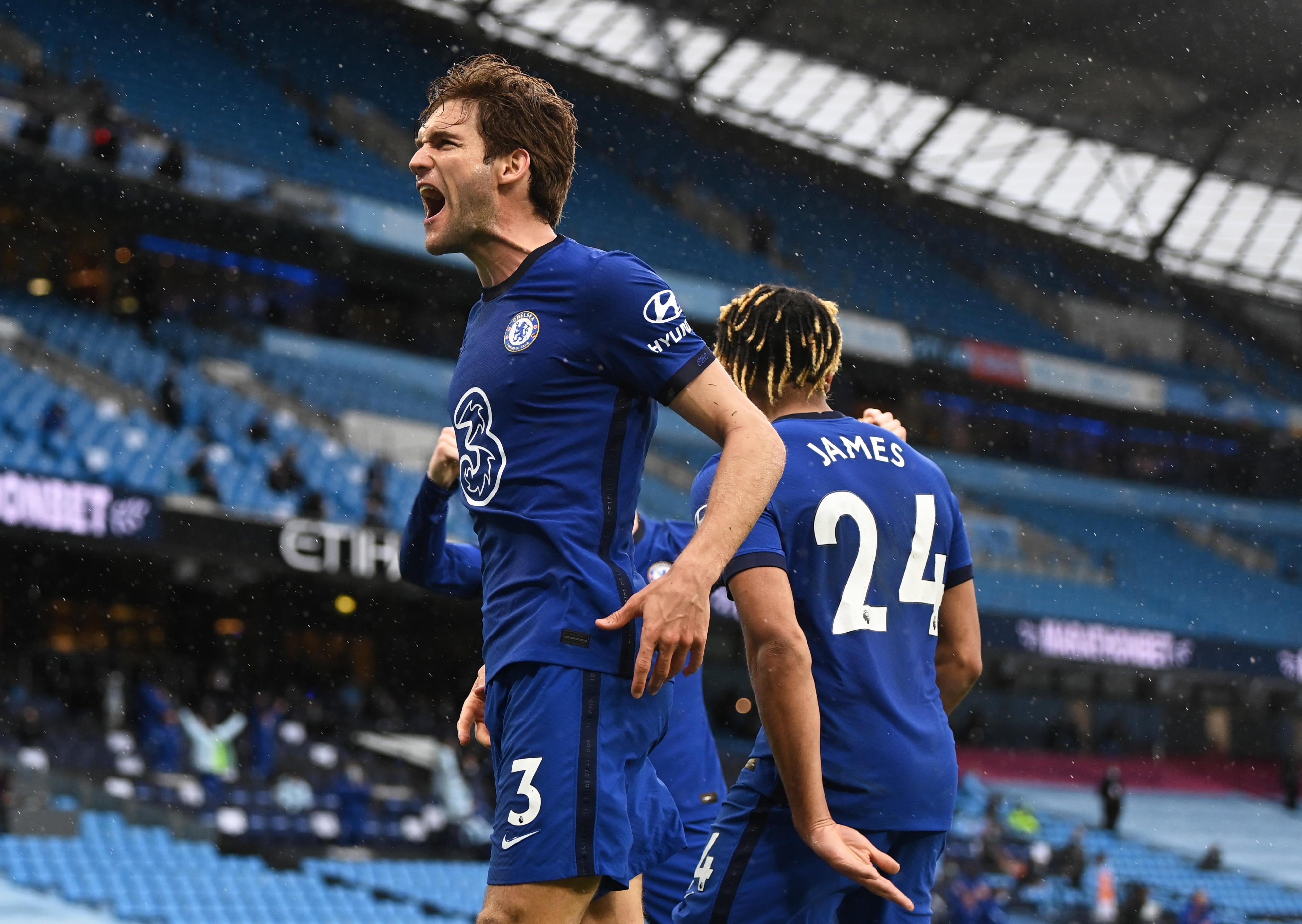 Manchester City vs. Chelsea score: Marcos Alonso strike postpones title clinch for Guardiola's side - CBSSports.com
