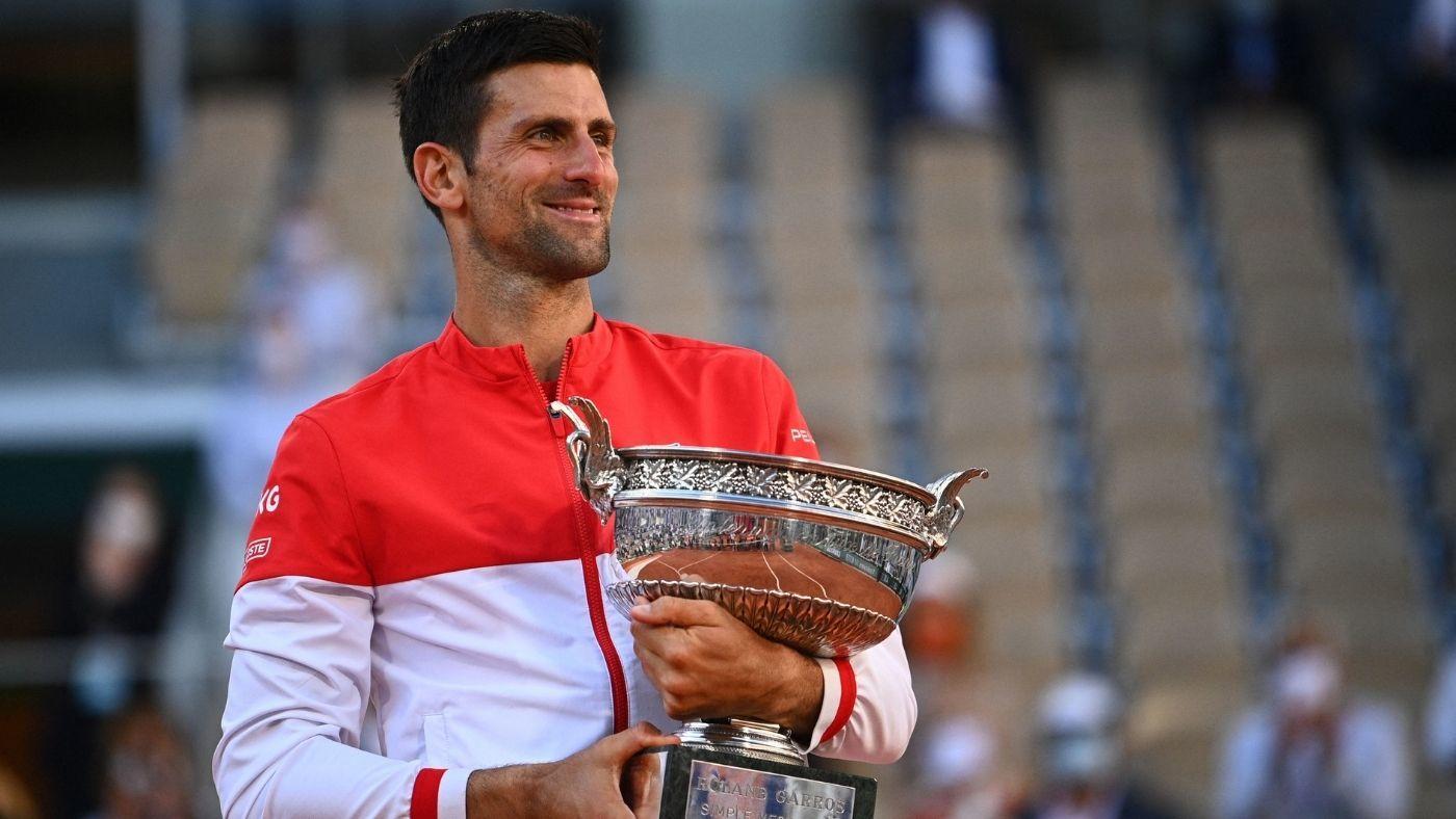 2021 French Open Men S Final Novak Djokovic Outlasts Stefanos Tsitsipas For 19th Grand Slam Title Cbssports Com