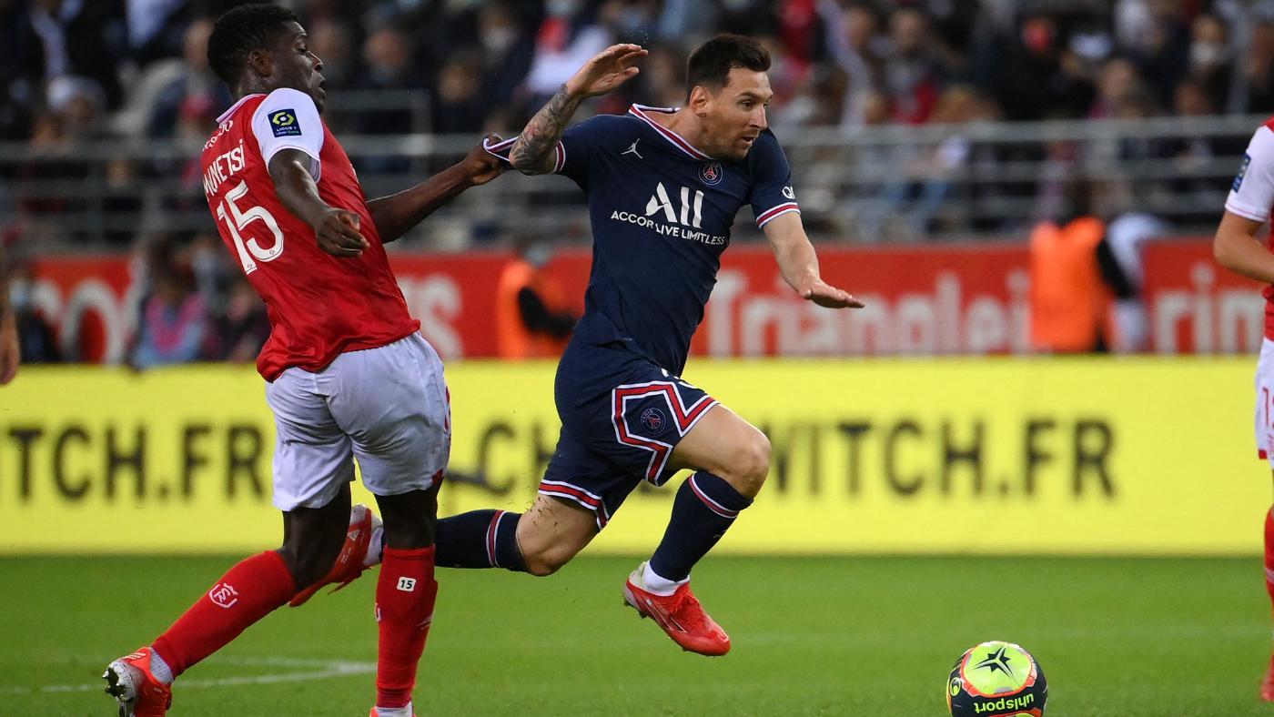 Lionel Messi PSG debut: Superstar comes off bench; Mbappe scores twice in  Paris Saint-Germain win vs. Reims - CBSSports.com