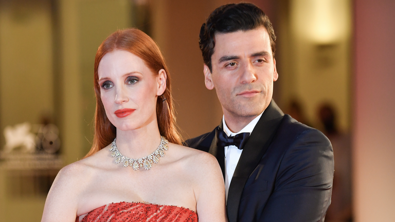 Jessica Chastain Responds to Steamy Viral Red Carpet Moment With Oscar Isaac