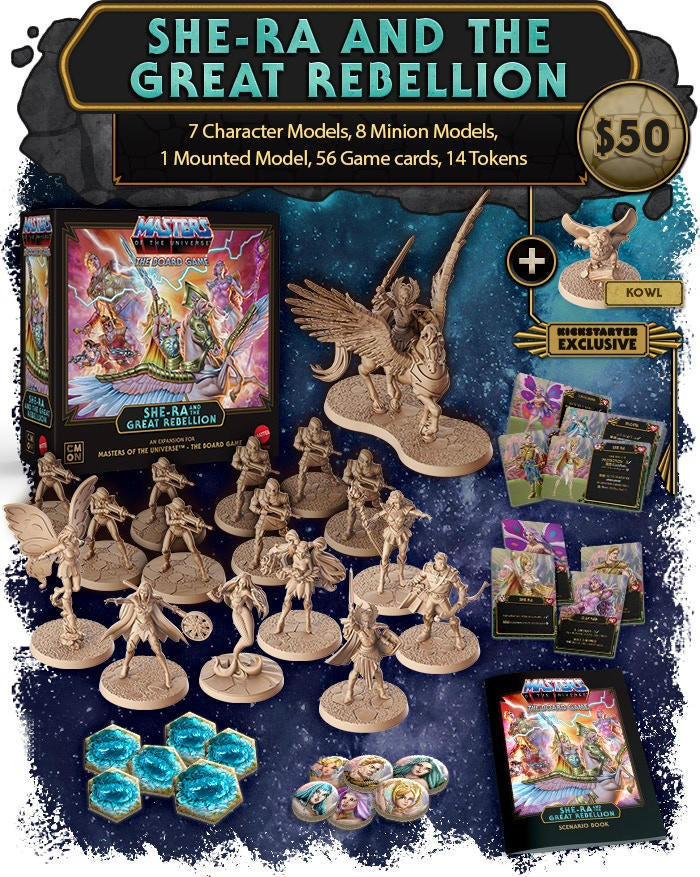 Masters of the Universe Board Game Reveals Epic She-Ra Expansion