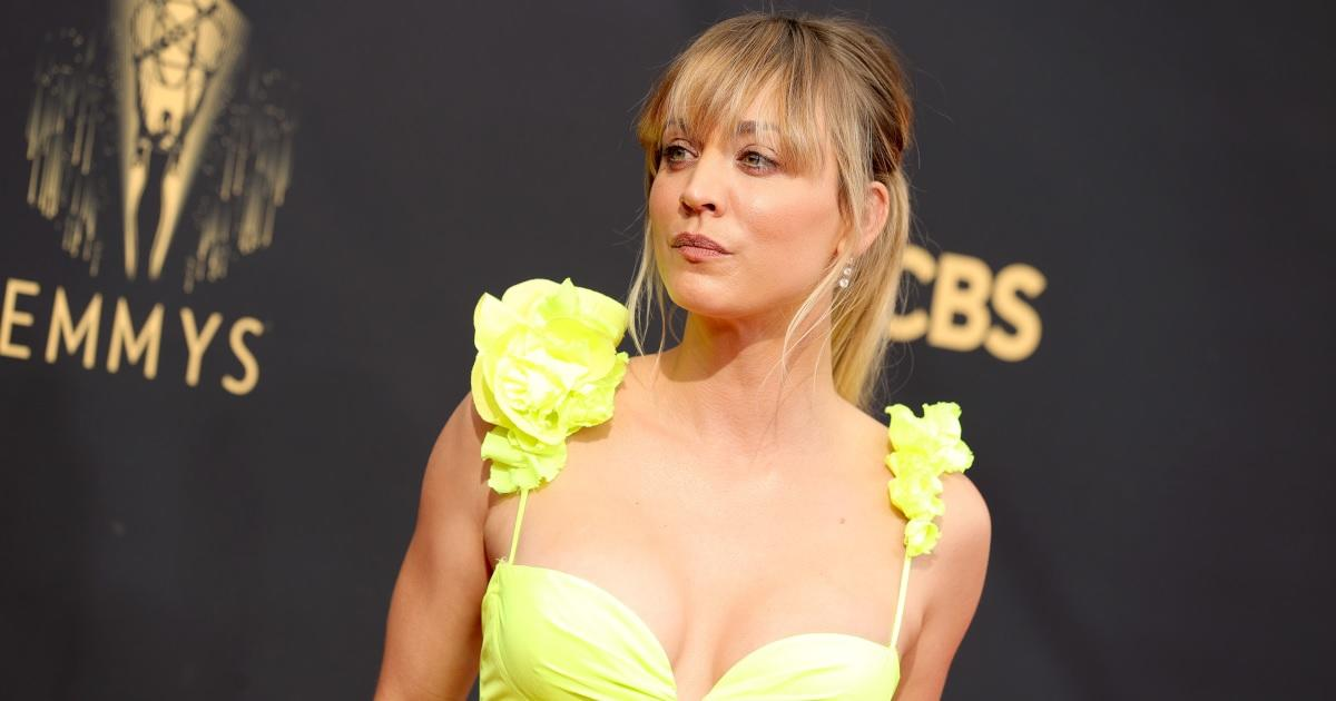 Kaley Cuoco Shines in Yellow Dress Ahead of 2021 Emmys as Rumors of Pete Davidson Romance Grow.jpg