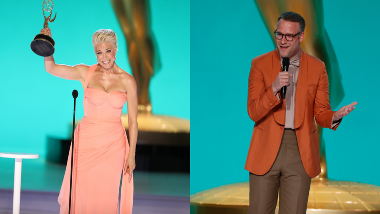 Seth Rogen's Mispronouncing 'Ted Lasso' Star Hannah Waddingham's Name Earned Some John Travolta Comparisons