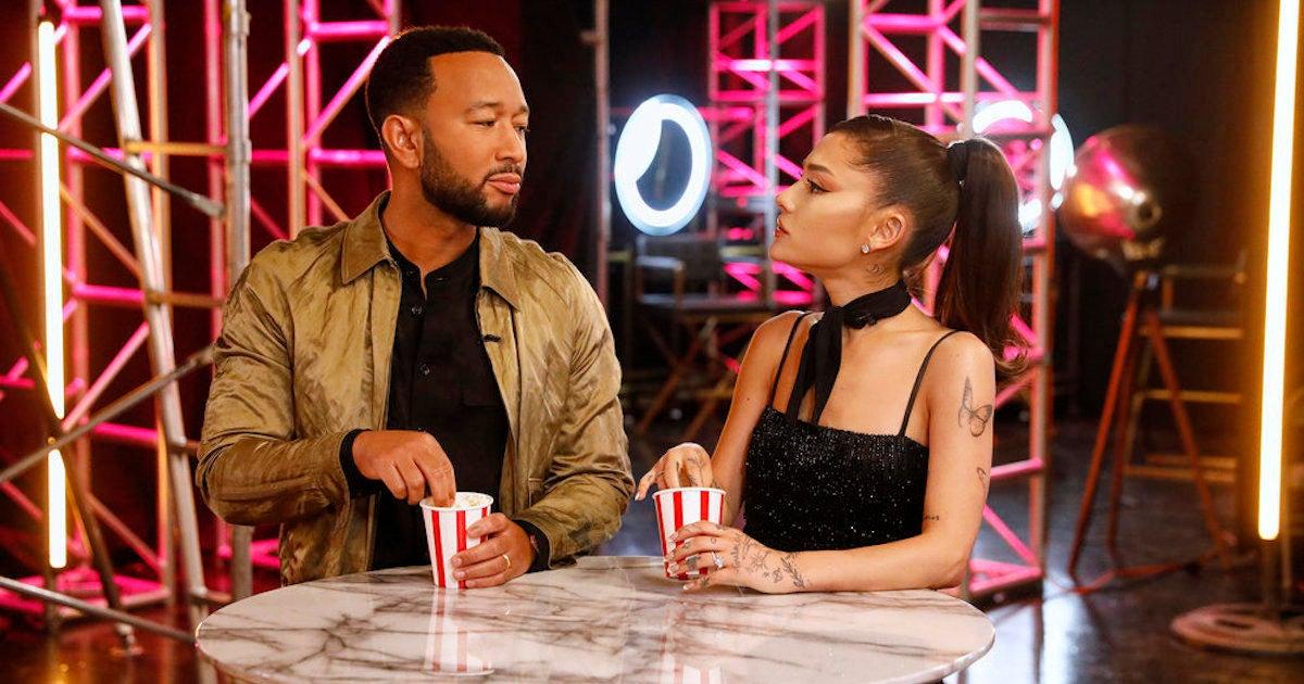 'The Voice': Ariana Grande, John Legend Walk off Set When Blake Shelton and Kelly Clarkson Start Fighting.jpg