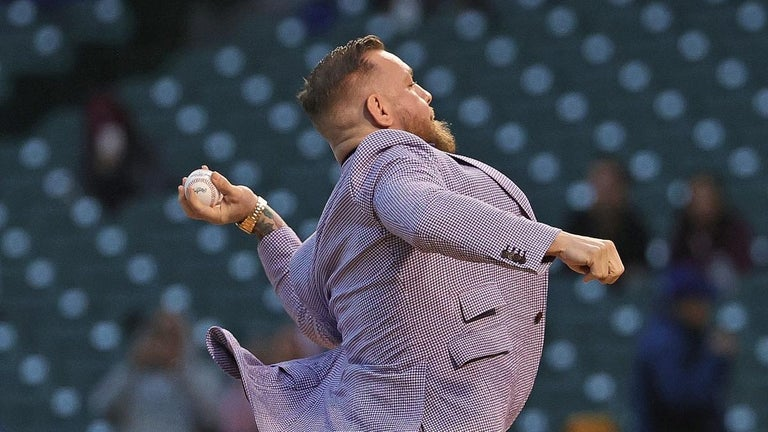 Watch Conor McGregor Throw Extremely Wild First Pitch During Cubs Game