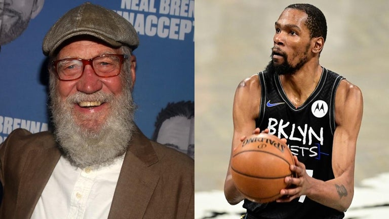 David Letterman Crashes Nets' Media Day and Grills Kevin Durant With Silly Questions
