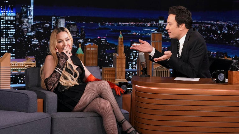 Madonna Climbs on Jimmy Fallon's Desk and Flashes 'Tonight Show' Audience