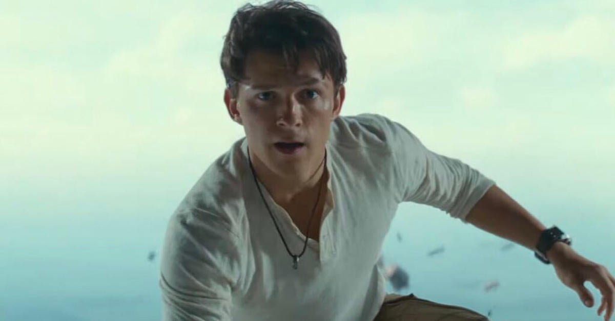uncharted-movie-trailer-tom-holland-spider-man-pose-reactions