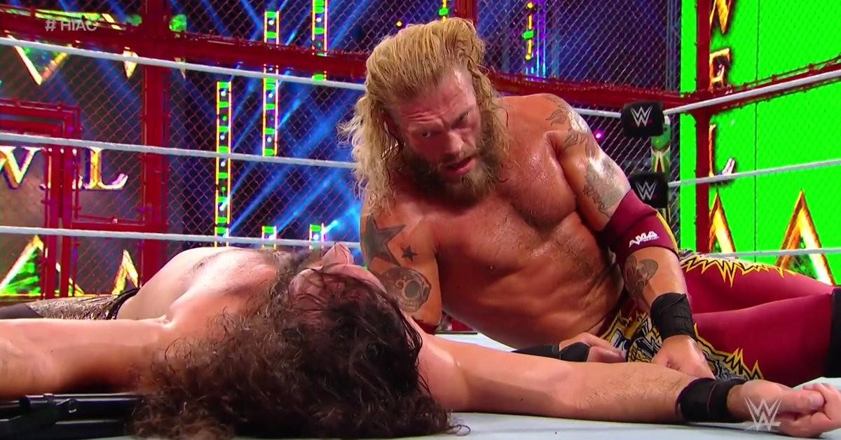 WWE Crown Jewel 2021: Edge Beats Seth Rollins in Wild Hell in a Cell Match